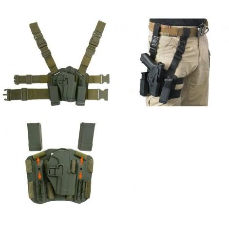 8 FIELDS FONDINA COSCIALE BERETTA M9 92 98 IN POLIMERO SGANCIO RAPIDO QD VERDE OD - 8 FIELDS