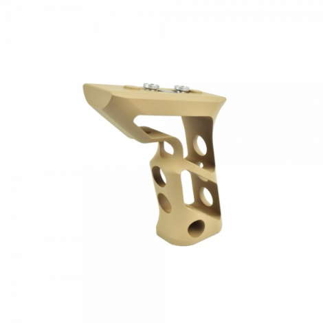 BIG DRAGON IMPUGNATURA GRIP ANGOLARE ANGLED LUNGA CNC PER KEYMOD TAN DE - BIG DRAGON