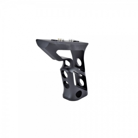 BIG DRAGON IMPUGNATURA GRIP ANGOLARE ANGLED LUNGA CNC PER KEYMOD NERA BLACK - BIG DRAGON