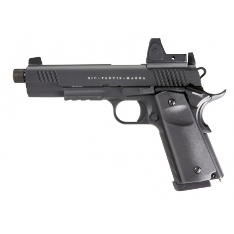SECUTOR Rudis Magna 1911 CON RED DOT XII Custom Pistol Co2 Powered - Gas Ready - NERA Black - SECUTOR