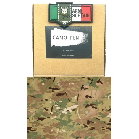 CAMO PEN VERNICE MIMETICA PENNARELLO PER FUCILI CAMO 5 X PEN MILITARY PAINT MULTICAM MC PACK KIT - CAMO PEN