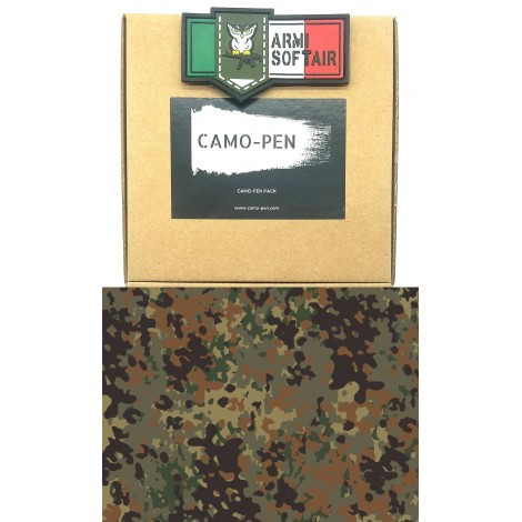 CAMO PEN VERNICE MIMETICA PENNARELLO PER FUCILI CAMO 5 X PEN MILITARY PAINT FLECKTARN PACK KIT - CAMO PEN