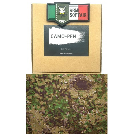CAMO PEN VERNICE MIMETICA PENNARELLO PER FUCILI CAMO 5 X PEN MILITARY PAINT GREENZONE PACK KIT - CAMO PEN