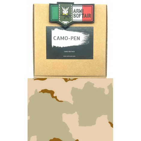 CAMO PEN VERNICE MIMETICA PENNARELLO PER FUCILI CAMO 3 X PEN MILITARY PAINT DESERT 3 COLOR PACK KIT - CAMO PEN