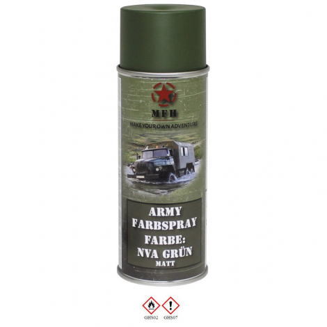 MFH VERNICE MIMETICA SPRAY 400 ml PER FUCILI CAMO MILITARY PAINT VERDE NVA GREEN - MFH