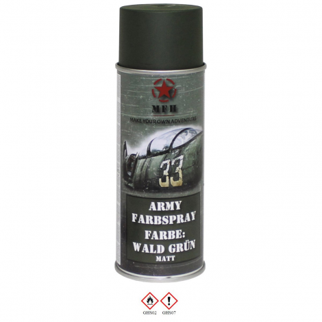 MFH VERNICE MIMETICA SPRAY 400 ml PER FUCILI CAMO MILITARY PAINT VERDE FOREST GREEN - MFH