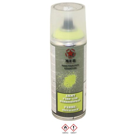 MFH VERNICE MIMETICA SPRAY 400 ml MILITARY PAINT SEGNALAZIONE SIGNAL YELLOW - MFH
