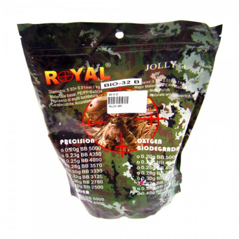 ROYAL PALLINI PRECISION BIO NERI BLACK 0.32 g 1 Kg - ROYAL