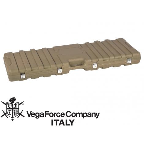 VFC SACCA BORSA PORTA FUCILI RIGIDA HARD GUN CASE WITH SPONGE DIM. 135X40X130 TAN DESERT - VFC VegaForceCompany