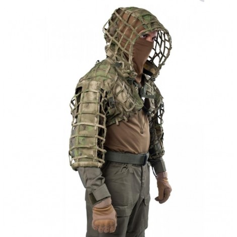 GIENA TACTICS GHILLIE VIPERHOOD SKELETON - ATACS FG - GIENA TACTICS