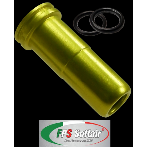 FPS nozzle Spingipallino in ergal per serie M249 MINIMI A&K con or di tenuta (SP249E) - FPS softair