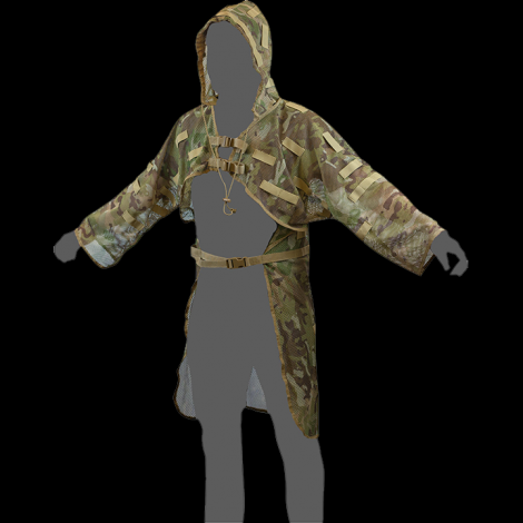 VIPER BASE GHILLIE SUIT A RETE COBRA MULTICAM MC CAMO MIMETICO - VIPER tactical