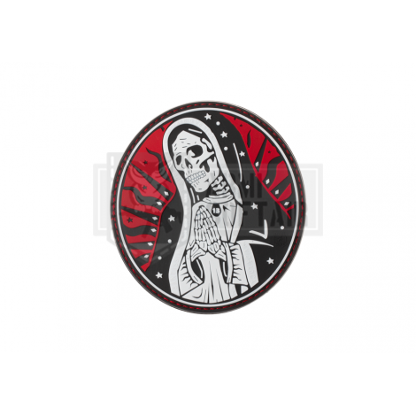 PATCH PVC SANTA MUERTE MEXICO DRUG CARTEL RED ROSSA -