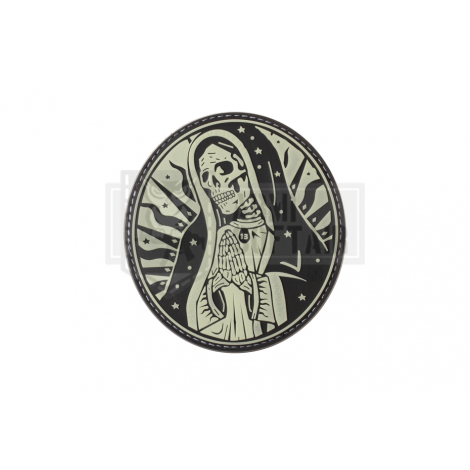 PATCH PVC SANTA MUERTE MEXICO DRUG CARTEL GLOW IN THE DARK -
