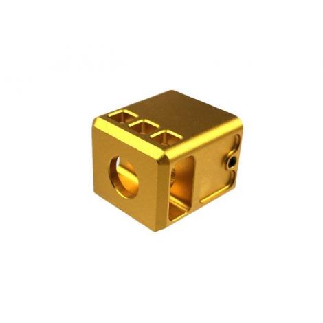 5KU COMPENSATORE STUBBY STYLE PER PISTOLA G17 / G18 CUSTOM ORO (GOLD) - 5KU