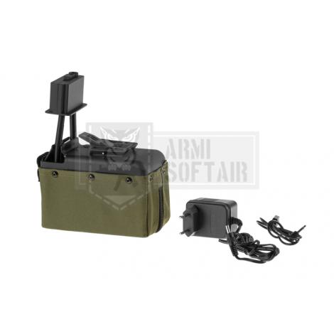 A&K CARICATORE DRUM MINIMI M249 1500 bb PICCOLO VERDE OD - A&K