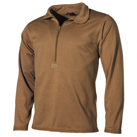 MFH MAGLIA INTIMA TERMICA CON ZIP LEVEL 2 GEN III UNDERWARE COYOTE TAN CB - MFH