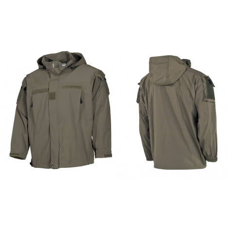 MFH GIACCA PCU SOFT SHELL LEVEL 5 VERDE OD GREEN - MFH