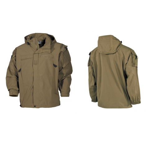 MFH GIACCA PCU SOFT SHELL LEVEL 5 COYOTE TAN - MFH