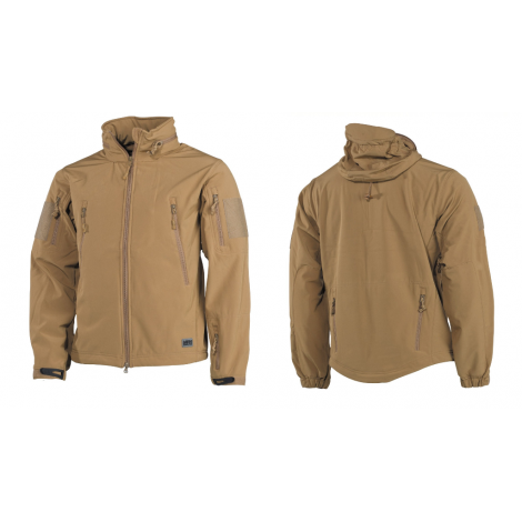 MFH GIACCA SOFT SHELL SCORPION PREMIUM COYOTE TAN - MFH