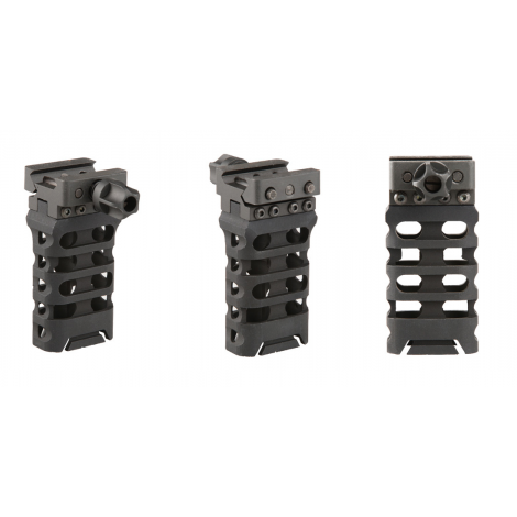 5KU Ultra-light Aluminium Vertical Grip QD SKELETON RUSSIAN -NERA BLACK - 5KU