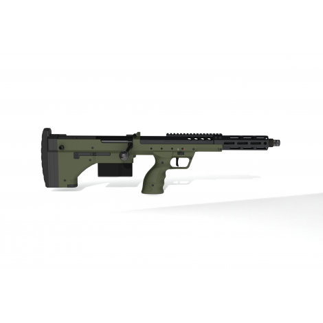 SILVERBACK fucile a molla SNIPER SRS A2 COVERT CORTO (16 inches Barrel) Licensed by Desert Tech - OD GREEN VERDE - SILVERBACK