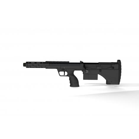 SILVERBACK fucile a molla SNIPER SRS A2 SPORT (16 inches Barrel) Licensed by Desert Tech ( LEFT HAND - MANCINI )- NERO BK - S...