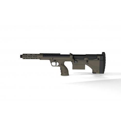 SILVERBACK fucile a molla SNIPER SRS A2 SPORT (16 inches Barrel) Licensed by Desert Tech ( LEFT HAND - MANCINI )- FDE TAN - S...
