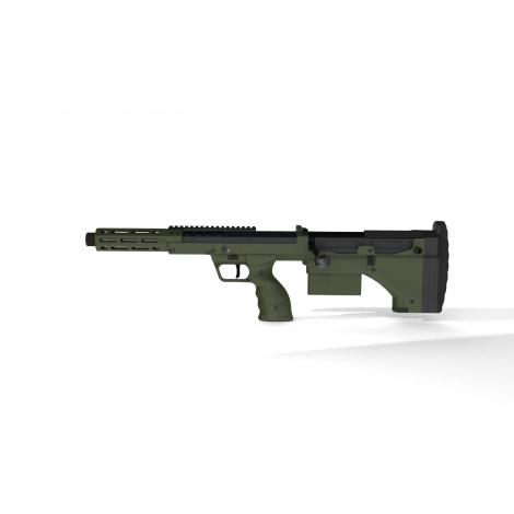 SILVERBACK fucile a molla SNIPER SRS A2 SPORT (16 inches Barrel) Licensed by Desert Tech ( LEFT HAND - MANCINI )- OD GREEN VE...