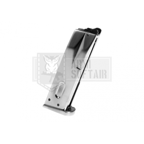 WE CARICATORE M9 BERETTA SILVER ARGENTO GBB PISTOLA GAS 25 bb - WE