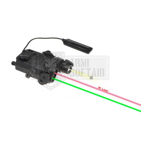 WADSN ANPEQ PEQ LA-5C UHP Illuminator / Laser Module Green + IR NERO BLACK - WADSN