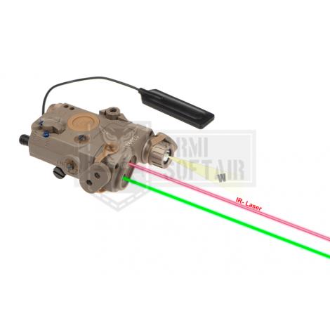 WADSN ANPEQ PEQ LA-5C UHP Illuminator / Laser Module Green + IR TAN DE FDE - WADSN