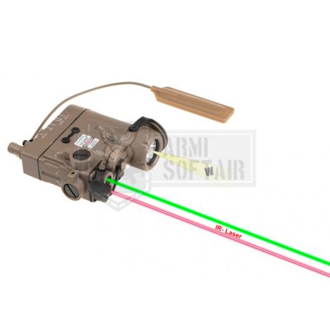 WADSN ANPEQ PEQ DBAL-eMkII Illuminator / Laser Module Green + IR TAN DE FDE - WADSN