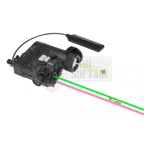 WADSN ANPEQ PEQ DBAL-eMkII Illuminator / Laser Module Green + IR NERO BLACK - WADSN