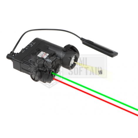 WADSN ANPEQ PEQ DBAL-eMkII Illuminator / Laser Module Green + RED NERO BLACK - WADSN