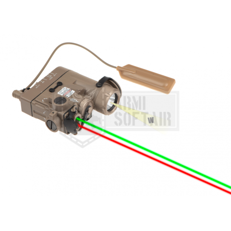 WADSN ANPEQ PEQ DBAL-eMkII Illuminator / Laser Module Green + RED TAN FDE DE - WADSN