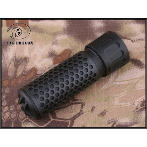 BIG DRAGON SILENZIATORE KAC STYLE QDC CORTO SHORT AIRSOFT QUICK DETACH SUPPRESSOR NERO BLACK - BIG DRAGON