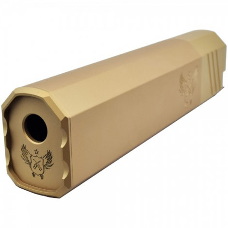 BIG DRAGON SILENZIATORE OSPREY STYLE 205 mm LUNGO TAN DE - BIG DRAGON