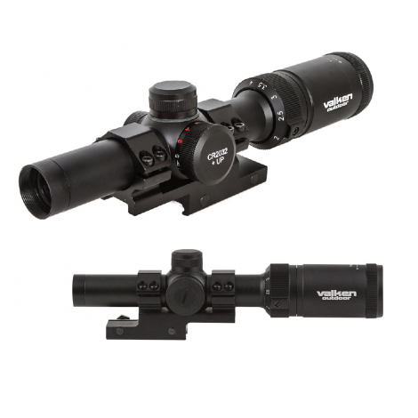 Valken OTTICA Scope 1-4x20 w/Mount Mil-Dot Reticle sniper NERA - BLACK - Valken