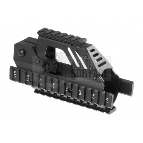 BATTLE AXE P90 RIS RAIL ALLUMINIO CNC NERO BLACK - BATTLE AXE