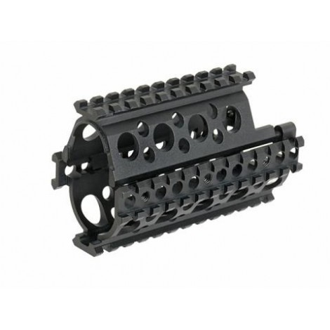 BIG DRAGON AK 74 U RIS AK QUAD-RAIL HANDGUARD NERO BLACK - BIG DRAGON