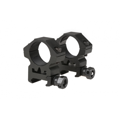 THETA 2 ANELLI BASSI OTTICA 25 mm Two-part 25mm optics mount for RIS rail (low) IN METALLO - THETA OPTICS