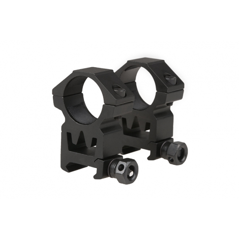 THETA 2 ANELLI ALTI OTTICA 25 mm Two-part 25mm optics mount for RIS rail (high) IN METALLO - THETA OPTICS