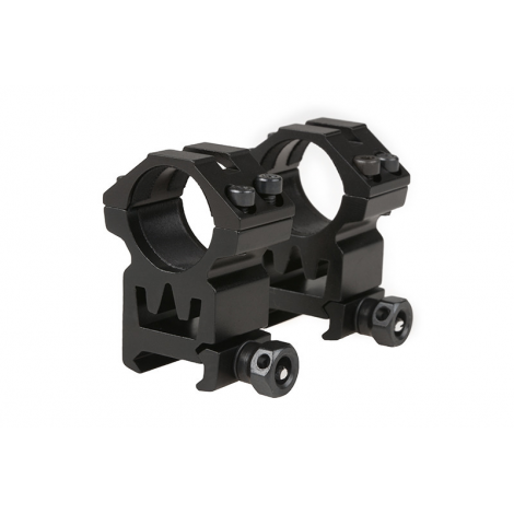 THETA 2 ANELLI ALTI OTTICA 25 mm Two-part 25mm optics open mount for RIS rail (high) IN METALLO - THETA OPTICS