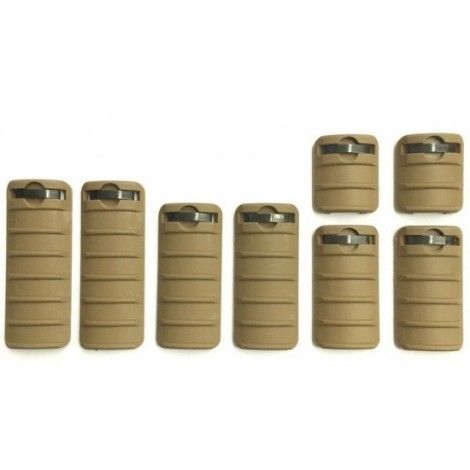 BIG DRAGON KAC STYLE RAIL COVER SET 8 PEZZI (TAN) - BIG DRAGON