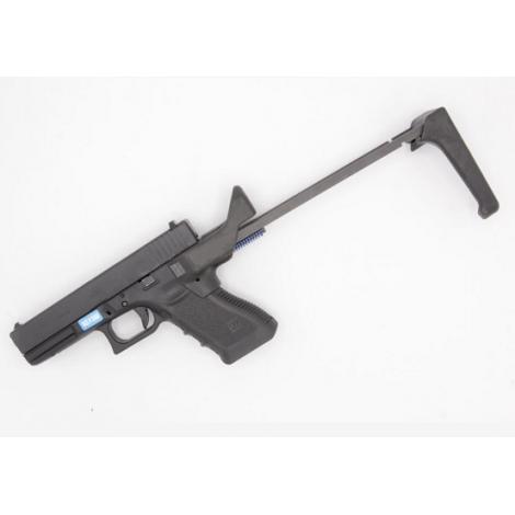 5KU CALCIO ABBATTIBILE HM FLUX DEF style brace conversion per pistola g17/18 NERO BLACK - 5KU
