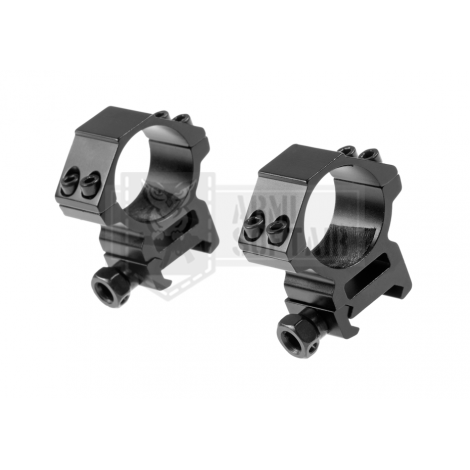 PIRATE ARMS 2 ANELLI MEDI OTTICA 30 mm Two-part 30mm optics mount for RIS rail (MEDIUM) IN METALLO - PIRATE ARMS