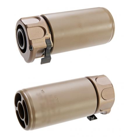 5KU silenziatore SF MINI WARDEN con spegni fiamma 14mm- CCW TAN - 5KU