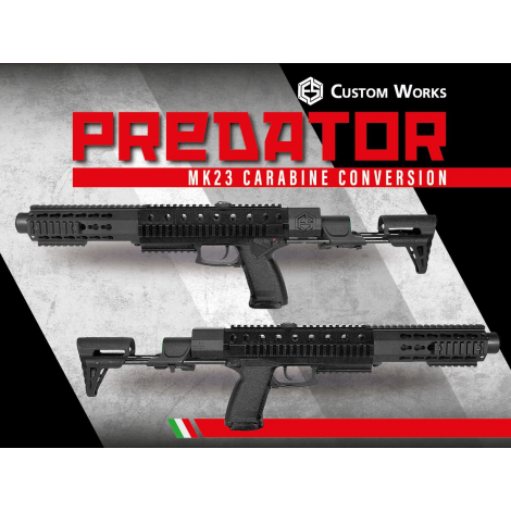 E.S CUSTOM PREDATOR CARABINE CONERSION KIT FOR MK23 - E.S CUSTOM WORKS 100% made in Italy