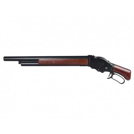 S&T FUCILE TERMINATOR M1887 MEDIUM A GAS Shell Ejecting Shot Gun REAL WOOD VERO LEGNO - S&T